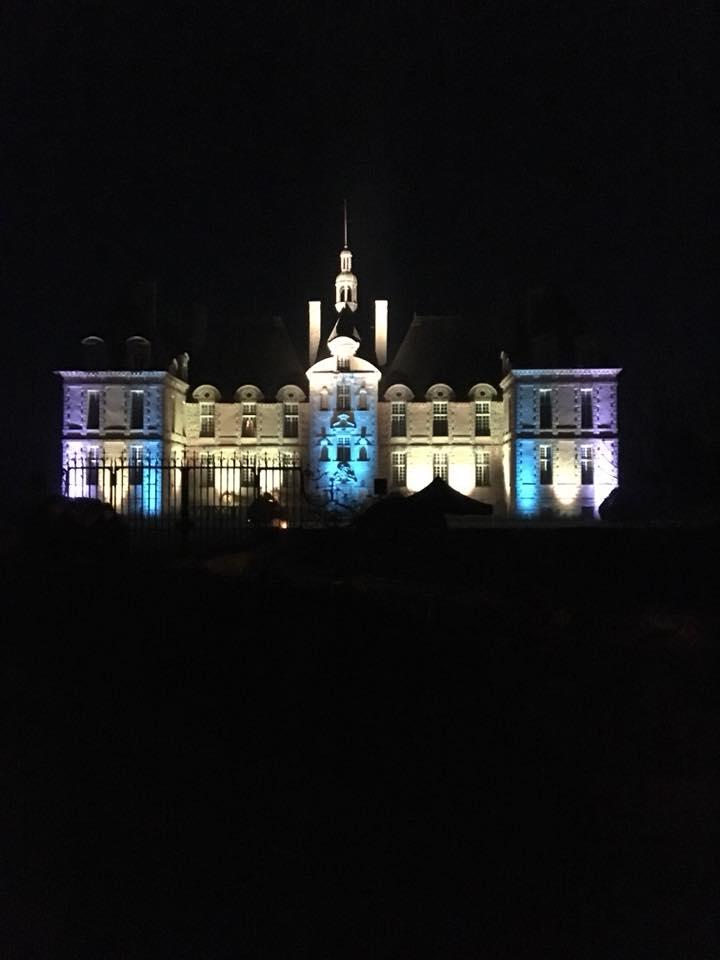 Le château illuminée