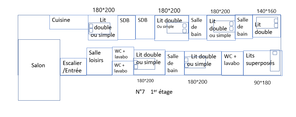 Gite 7 plan taille