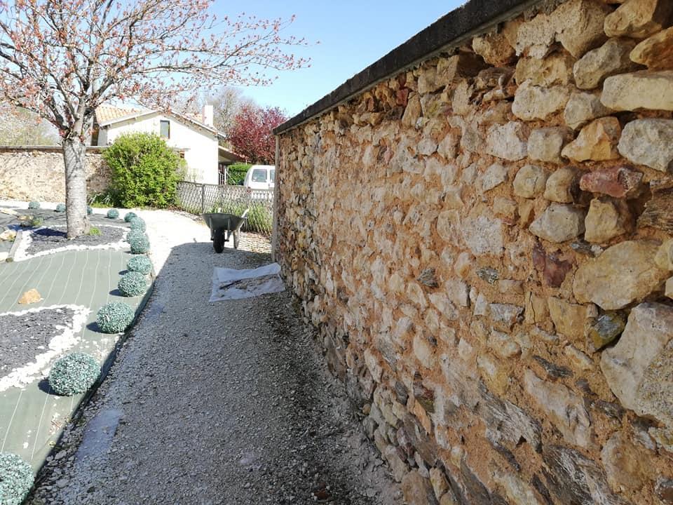 Mur sans crepis