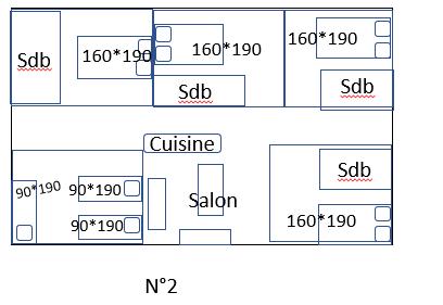 Plan avec taille lits n2